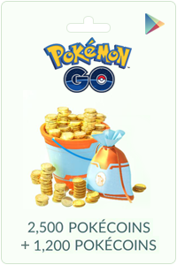 2500 + 1200 Pokecoins - Android