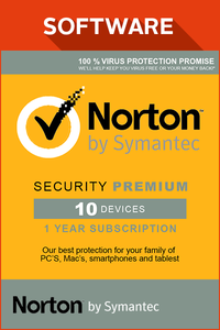 Norton Security Premium 10 devices 2017 1 Year