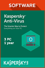 Kaspersky Anti-Virus 2018 3 PC 1 year