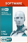 ESET NOD32 Antivirus 3 PC - 1 Year