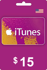 iTunes Gift Card 15 USD USA