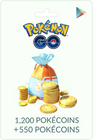 1200 + 550 PokeCoins - Android